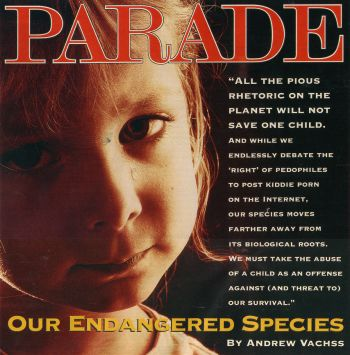 A Hard Look At How We Treat Children by Andrew Vachss, Parade Magazine cover photo