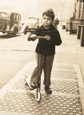 The author as a child, Manhattan, circa 1940s